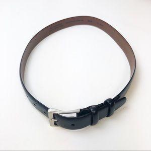 Other - Men's Italian Black Leather Belt Size 36